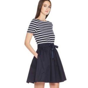 Kate Spade Nautical Striped Skater Dress Size M